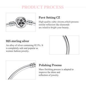 Image 5 - Heißer 925 Sterling Silber Charme herz zirkon Bead armband diy für mode schmuck frauen zubehör trendy 2018