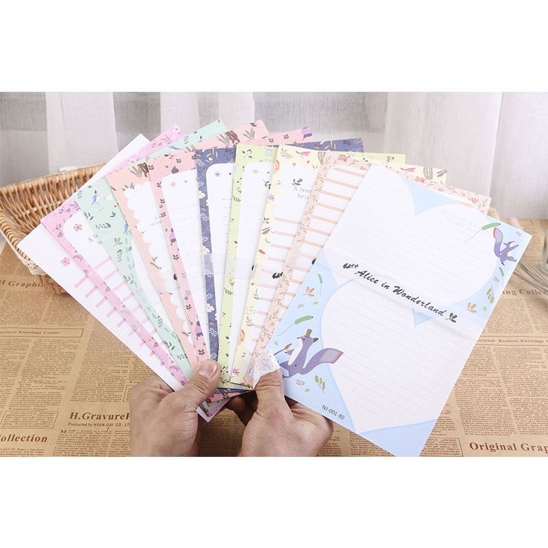Big Size Writing Paper Letter 6pc+Envelops 3pc Cute Animal 9pcs Set Fashion School Office Cartoon Students Envelope Letters Sets