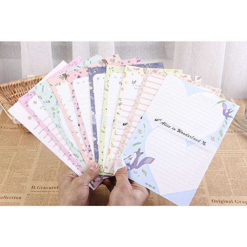 Big Size Writing Paper Letter 6pc+Envelops 3pc Cute Animal 9pcs Set Fashion School Office Cartoon Students Envelope Letters Sets