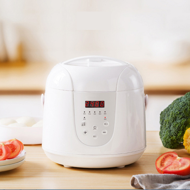 Multifunction 2L Mini Rice Cooker 220V 400W Smart Home Kitchen Electric Food  Steamer Pot 24H Appointment for 1-3 People 1