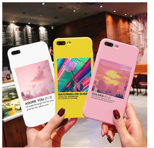 Harry Styles Love On Tour 2020 Candy Color TPU Case phone For iphone X 7 XS XR XSMA 11 11Pro 11ProMax ADORE YOU case Cover(China)