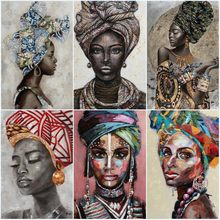 African Black Woman Canvas Paintings Graffiti Art Posters and Prints Abstract African Girl on The Wall Art Pictures Wall Decor