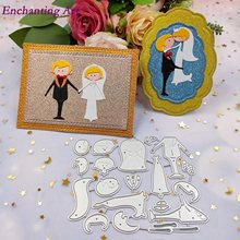 Wedding groom and brid Metal Cutting Dies Stencils for DIY Scrapbooking/photo Album stamps Decorative Embossing DIY Paper Cards