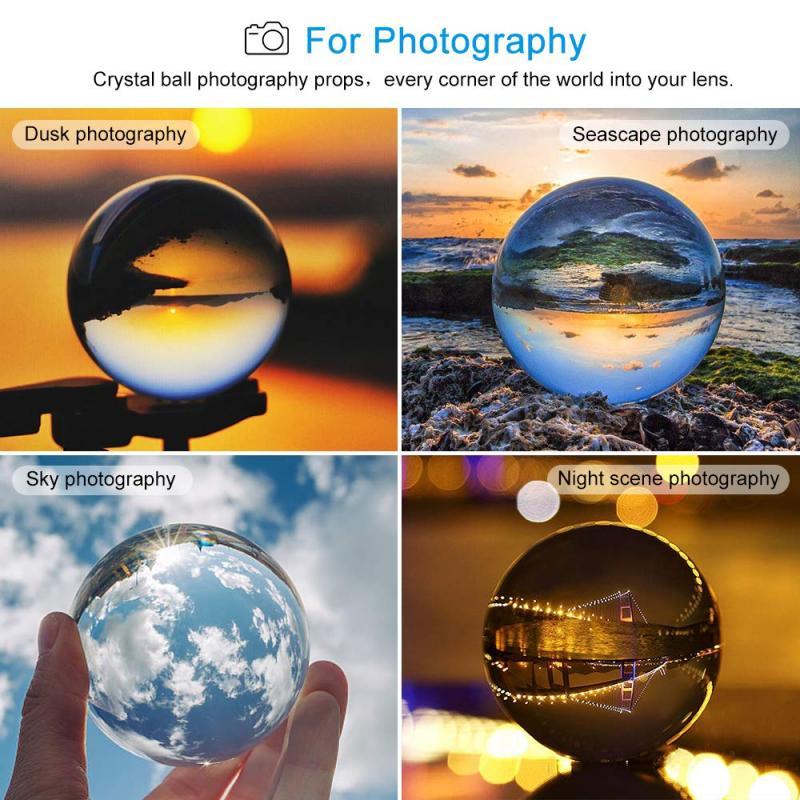 20/30/40mm cristal claro bola de cristal para sanación magia esfera fotografía apoyos de fotografía de Lensball casa decoración Hogar