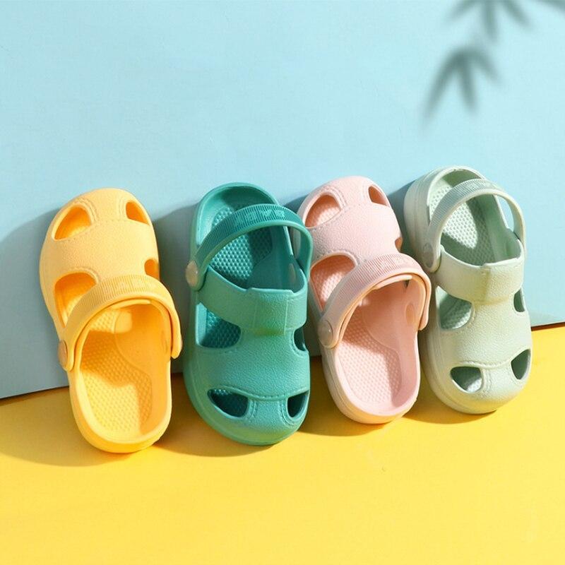 Slippers For Kids Shoes Boys Girls Summer Toddler Kids Cartoon Beach Shoes Baby Soft Indoor Bathroom Slippers Flip Flops 2