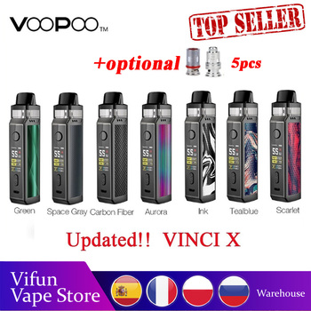 Hot Sale 70W VOOPOO VINCI X Pod Kit wi/ Dual-coil System Powered by Single 18650 Battery No Battery Vape Kit VS Vinci Kit/Drag 2