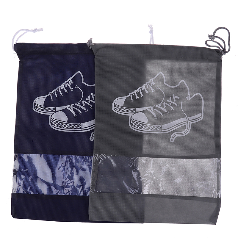 1PCS Drawstring Bag Waterproof Shoes Bag Travel Portable Shoe Sneaker Bag Pocket Tote