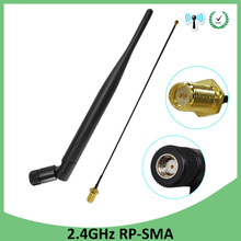 10pcs 2.4 GHz Antenna wifi 5dBi WiFi RP-SMA Male 2.4ghz antena wi fi Router+21cm PCI U.FL IPX to RP SMA Male Pigtail Cable цена и фото