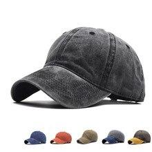 Boné de beisebol masculino feminino lavado afligido sarja boné de beisebol ajustável chapéu de pai juventude sólida pai chapéu de bola