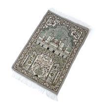 Islamic Prayer Rug Home Living Room Thick With Tassel Floor Soft Worship Mats Decoration Muslim Prayer Blanket Ethnic Carpet