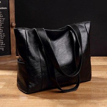 Embossing Leather Shoulder Bag