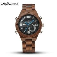 Shifenmei Men Watch Luxury Watches Military Wooden Quartz To