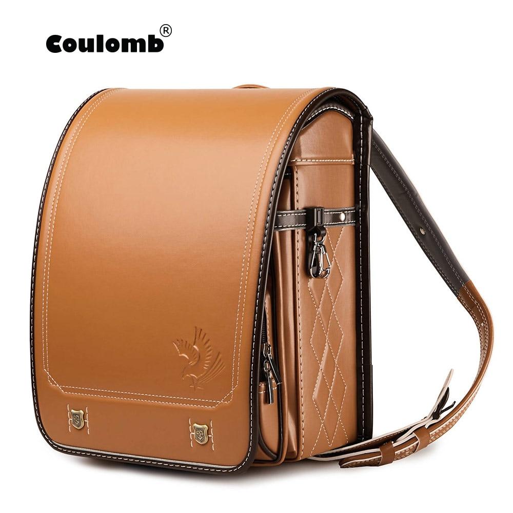 Colomb японский рандосеру детский школьный рюкзак для детей сумки PU Твердые Орел А4 Mochila Infantil детские ортопедические рюкзаки водонепроницаемы