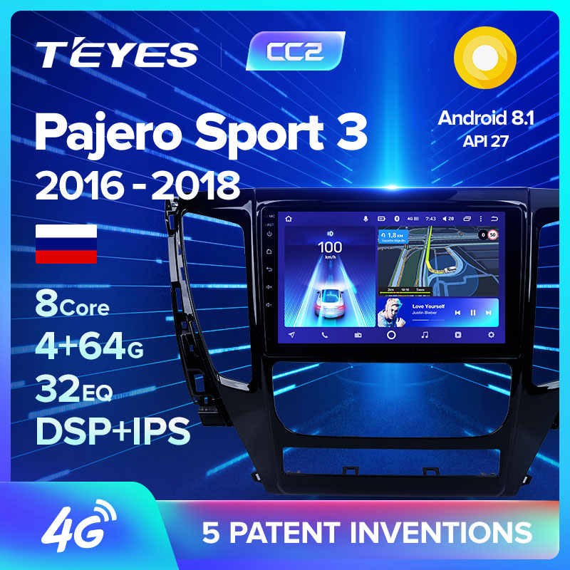 TEYES CC2 Per Mitsubishi Pajero Sport 3 2016 2017 2018 Auto Radio Multimedia Video Player di Navigazione GPS Android 8.1 No 2din