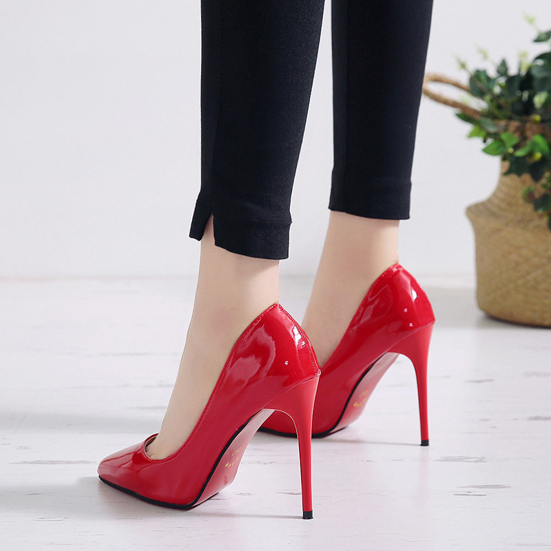 Women Pumps High Heels Shoes Woman Stiletto Pointed Toe Female Sexy Party Shoes Office Lady Wedding Party Plus Size 35-44