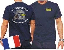 T-Shirt, bleu marine, Sapeurs, chandails, Casque