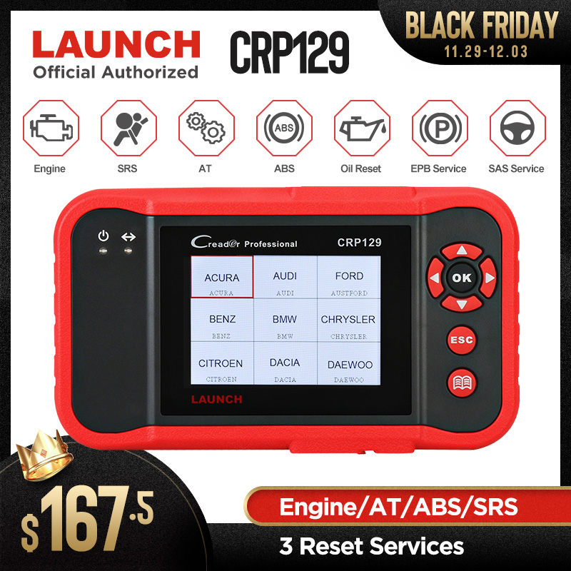 Original Launch Creader 129 CRP129 OBD2 Code Reader CRP 129 OBDII Scanner PK X431 Creader VIII CRP123 Auto Diagnostic Tool on