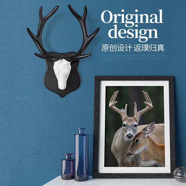 Креативные настенные вешалки с оленем, декоративные крючки для дверей животных, декоративные крючки для пальто, Декорации для лошадей с изо...