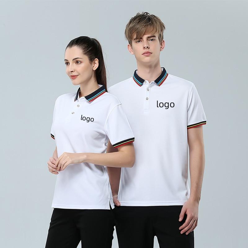 Рубашка поло новые мужские рубашки поло высококачественные хлопковые рубашки с коротким рукавом дышащие рубашки поло летние повседневные ...