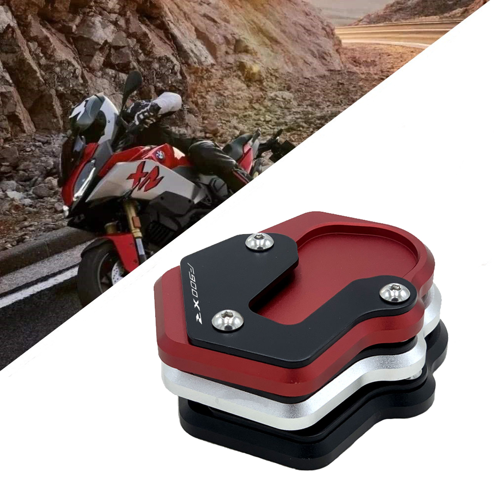 CXEPI Motorcycle Kickstand Foot Side Stand Extension Pad Support Plate for BMW F900R F900XR 2020