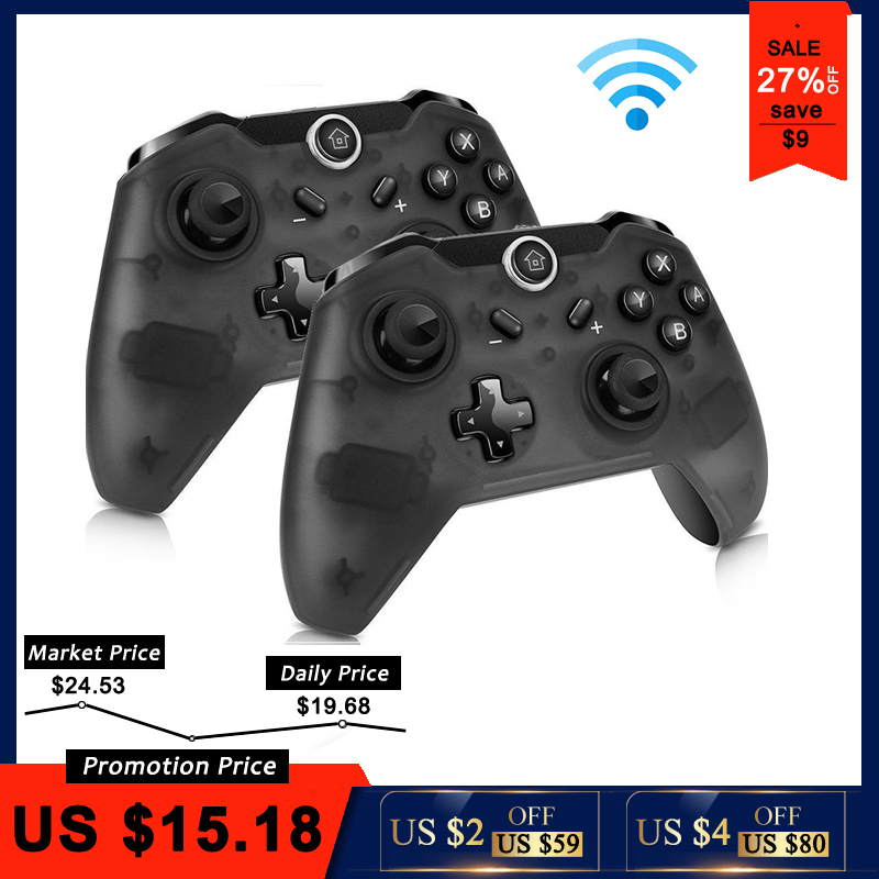 Remote-Gamepad Joystick Controle Nintend-Switch Pro-Console Bluetooth Wireless For PC