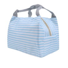 Striped Dot Portable Lunch Bag Insulation Refrigerated Fresh Food Safety Suitable for Picnic