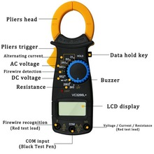 Digital Current Clamp Ammeter AC DC Voltmeter Tester VC3266+ Electrical Multimeter Clamp FireWire Identify Mini Meter Clamp mastech ms2008a mini digital display clamp meter