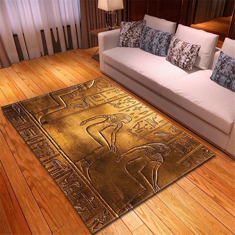 Alfombra con impresión 3D del Antiguo Egipto Element, decoración egipcia para el hogar, sala de estar, alfombra de baño con absorción de agua, alfombras de mesita de noche grandes Cosmos Flores, vallas, calcomanías de basebboard, pegatinas decorativas para el hogar, adhesivos de paredes 3D, mural de arte para habitación diy 7210