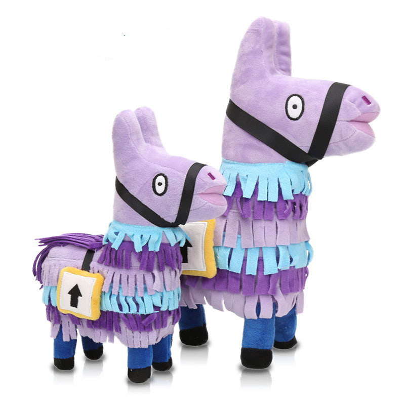Game Llama 18cm Plush Figure Video Game Troll Stash Llama Alpaca Rainbow Horse Phone Lanyards Stuffed Toy Gift image