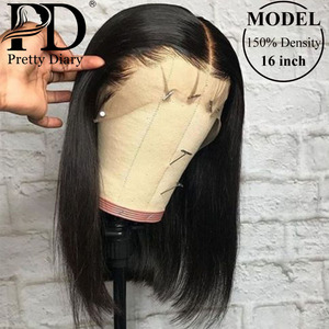 Straight Lace Front Human Hair Wigs For Women 13x4 Lace Frontal Wigs Malaysian Short Bob Wig 4x4 Straight Lace Closure Wigs