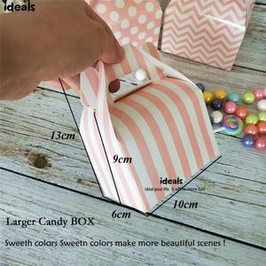 Image 3 - ideals DIY Baby Shower Pink Girl Decor Party Supplies Tabletop Gift Favor Bags,Candy Box, Paper Straws, Tassel Garland, Confetti