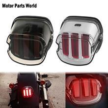 Motorcycle LED Tail Light Smoke/Chrome Lens Brake License Plate Lamp Rear Stop 12v For Harley Dyna Softail Touring Sportster XL