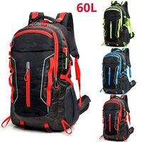 Водонепроницаемая спортивная сумка для скалолазания, 60л, уличный рюкзак для взрослых, для кемпинга, для самостоятельного вождения, для путе...