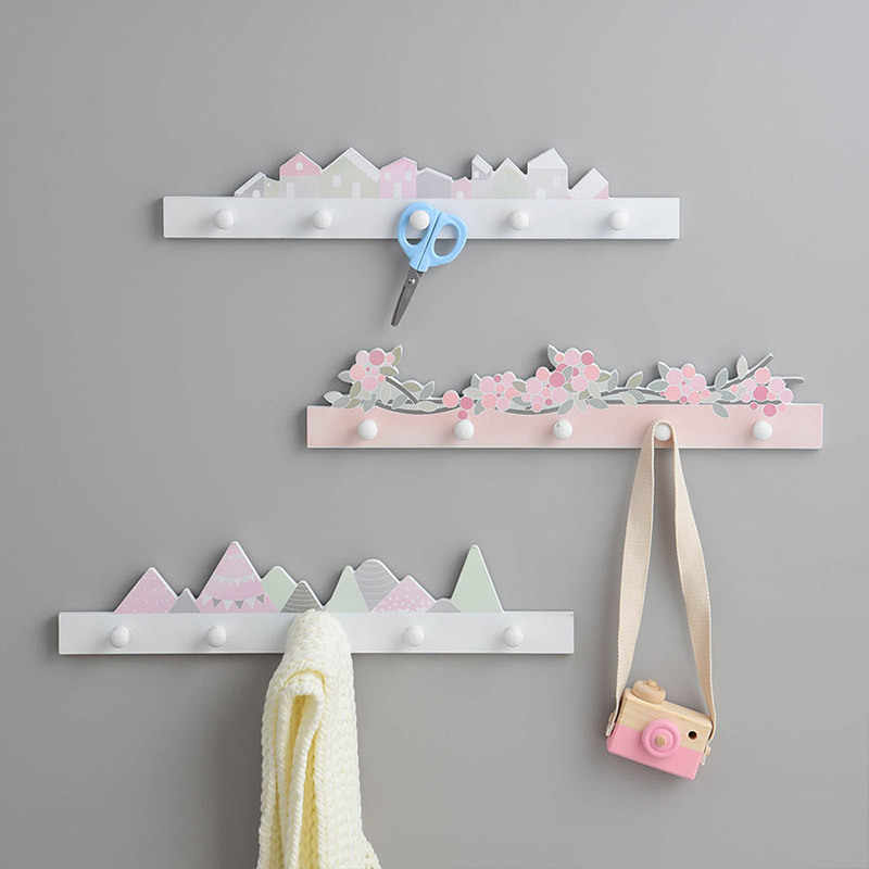 Coat Hat Hooks Cloud Shape Wall Hook Hanger Children/'s Room Organizer Decors