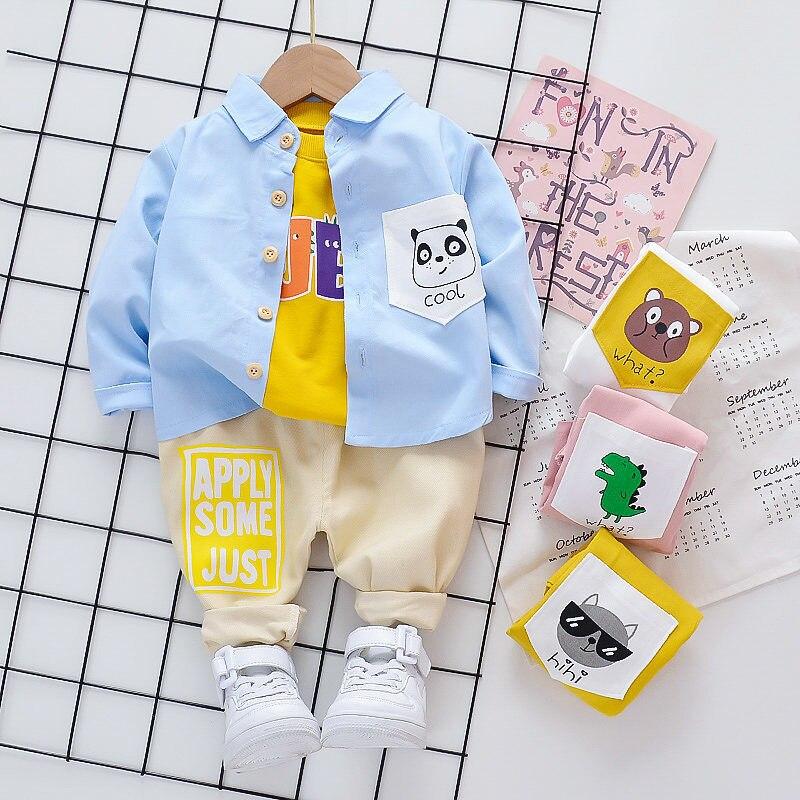 New Spring Kids Fashion Clothes Children Boys Girls Cartoon Shirt Pants 2Pcs/sets Baby Infant Fashion Clothing Toddler Tracksuit