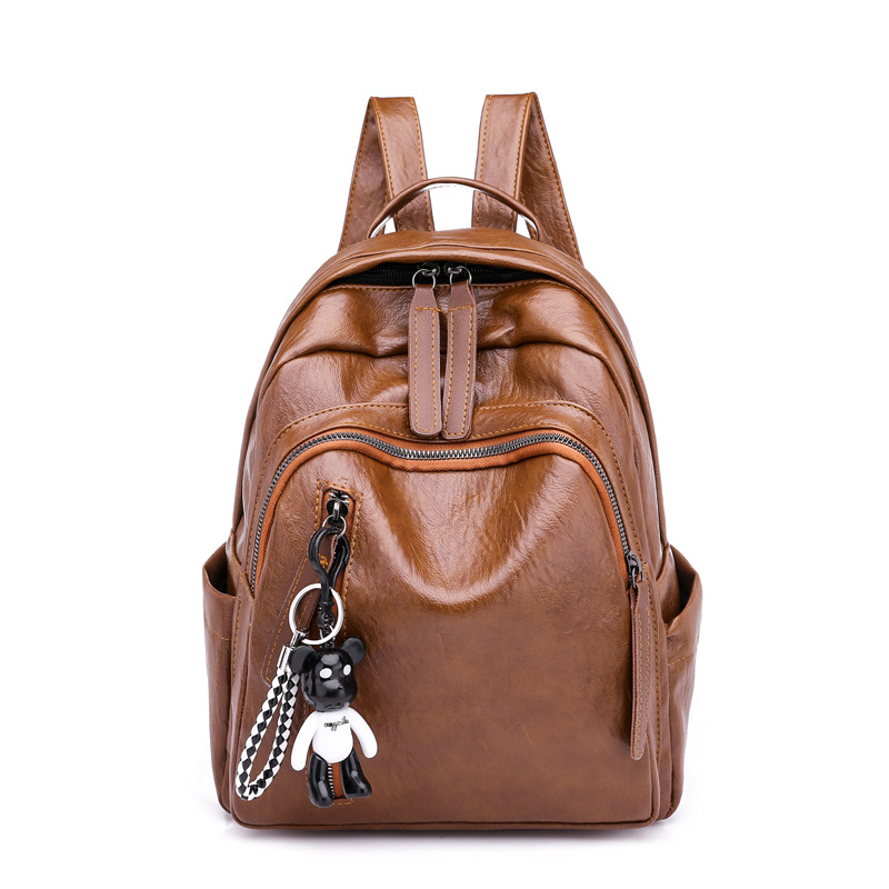 Female Anti-theft Backpack Classic PU Leather Solid Color Small Backpacks For Teenage Girls Female School Shoulder Bag Mochila