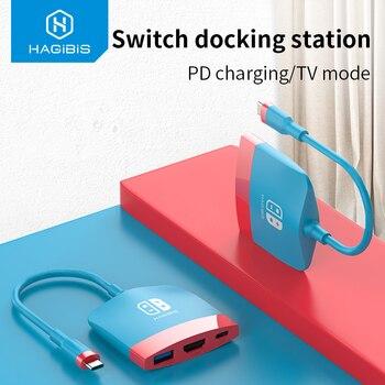 Hagibis Switch dokująca Hagibis do stacji dokującej Nintendo Switch przenośna stacja dokująca USB C do 4K HDMI USB 3.0 PD ładowanie dla NS Macbook Pro