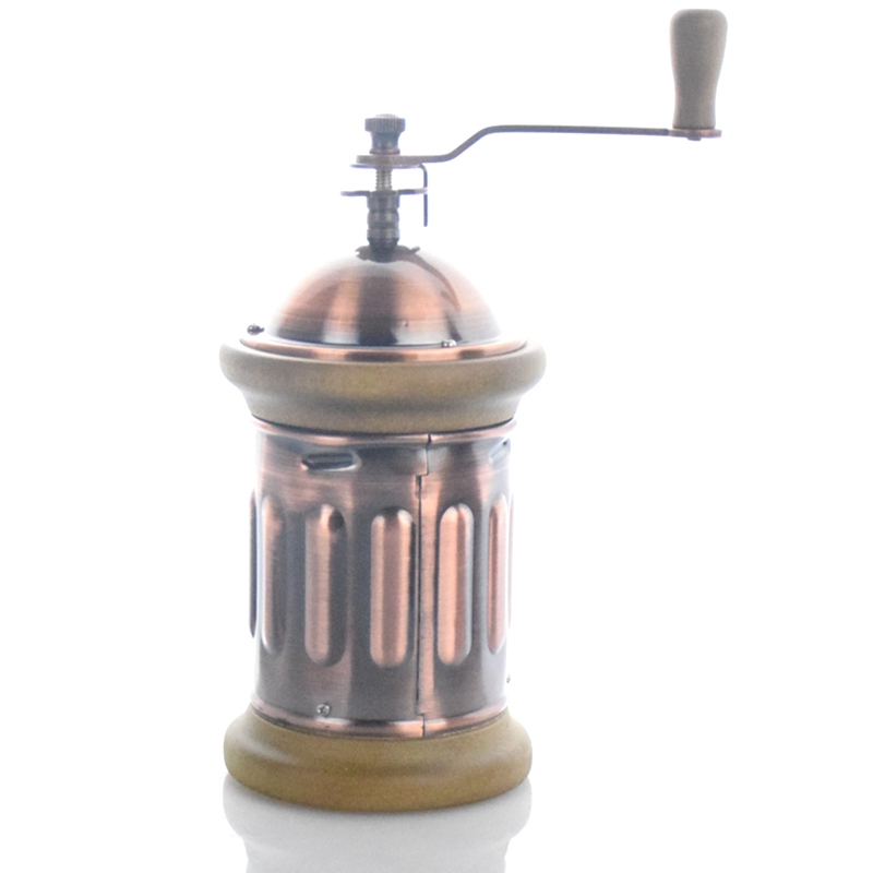 Manual Coffee Grinder Conical Burr Mill with Brushed Stainless Steel Bm-143 Coffee Hand Grinder