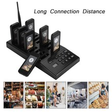 SU-666 Calling Pagers System 433.92MHz High Sensitivity 999-channel Restaurant Pager Wireless Coaster Pager Guest Paging System