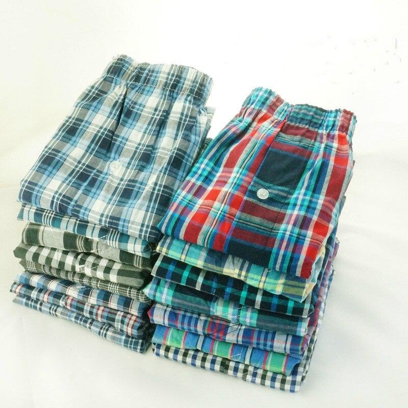 Woven Boxer Panties Shorts Mens Underwear Male Breathable 5-Pack Cotton Plus-Size Gauze