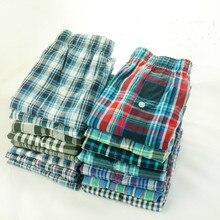 5 حزمة الرجال الملابس الداخلية المنسوجة الملاكم Hombre الرجال تنفس boxershort القطن سراويل الذكور الشاش السراويل حجم كبير