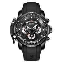 HobbyLane Wrist Watch Men BREAK 5601 Fashion Men Large Dial Chronograph Calendar Waterproof Quartz Sport Man Wrist Watch