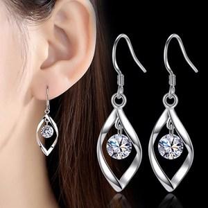 NEHZY 925 sterling silver new Jewelry High Quality Woman Fashion Earrings Retro Long Tassel Cubic Zirconia Pop Hook Earrings