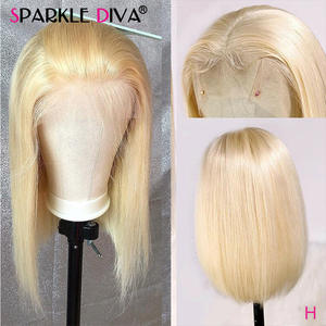 Wig Brazilian Wig-613 Blonde Human-Hair Lace-Front Transparent Remy Honey Straight Women