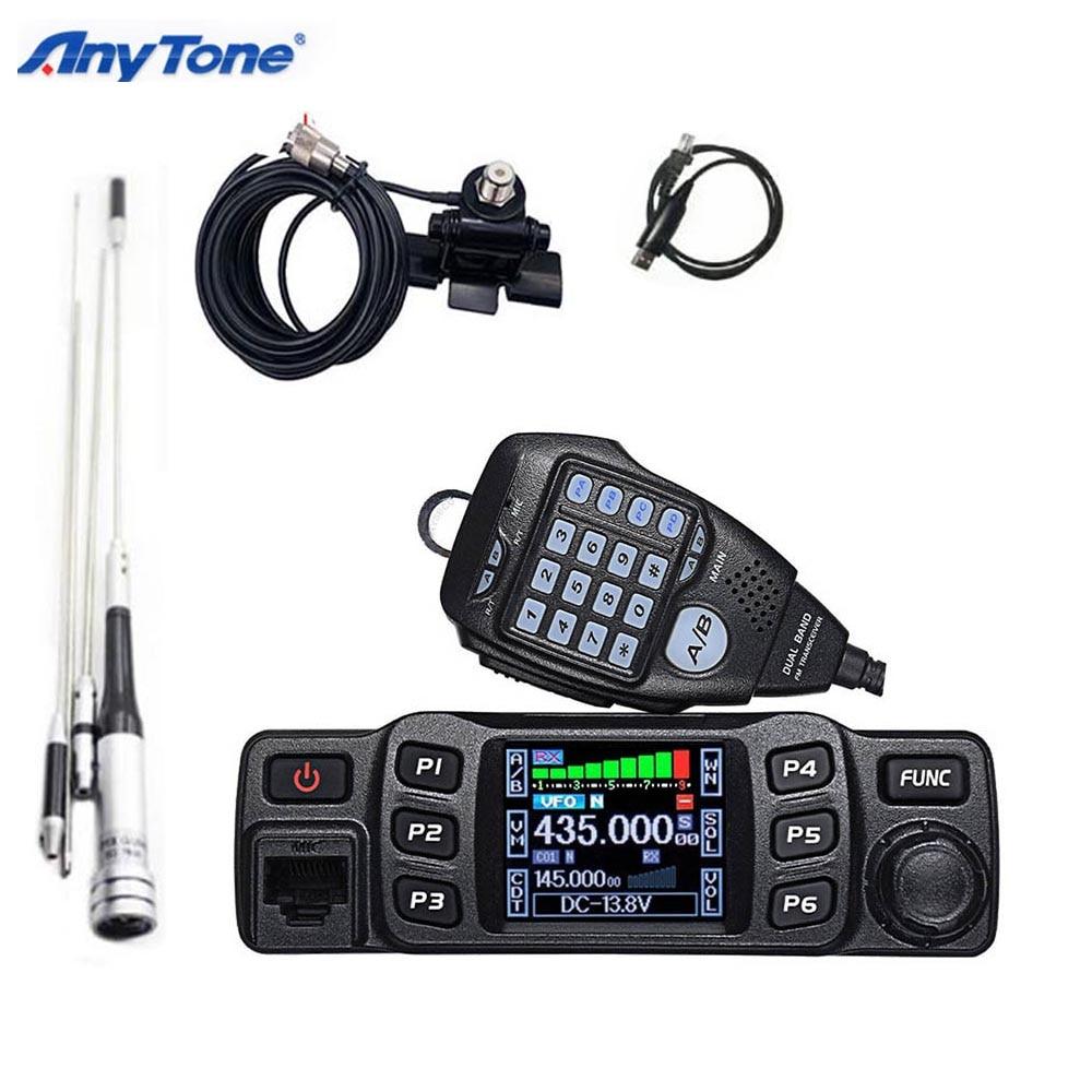 Anytone AT-778UV walkie talkie 25w transceptor duplo vhf 136-174 uhf 400-480mhz rádio amador do presunto walkie talkie 10km
