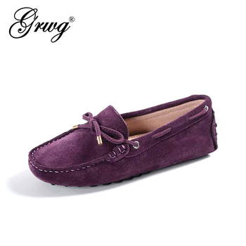 100% Genuine leather Women flats New Brand Handmade Casual shoes Leather Moccasin Fashion Driving Shoes