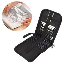 Sketch Drawing Pencil Professional Charcoal Sketch Tool Brush Set Student With Rubber Art Brush Set Q1JC