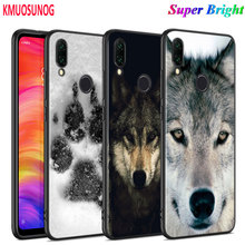 Black Silicone Cover Cool Black Wolf  Print for Xiaomi Redmi Note 8 7 6 5 4X 4 K20 Pro 7A 6A 6 S2 5A Plus Phone Case black silicone cover classical old cassette tape for xiaomi redmi note 8 7 6 5 4x 4 k20 pro 7a 6a 6 s2 5a plus phone case