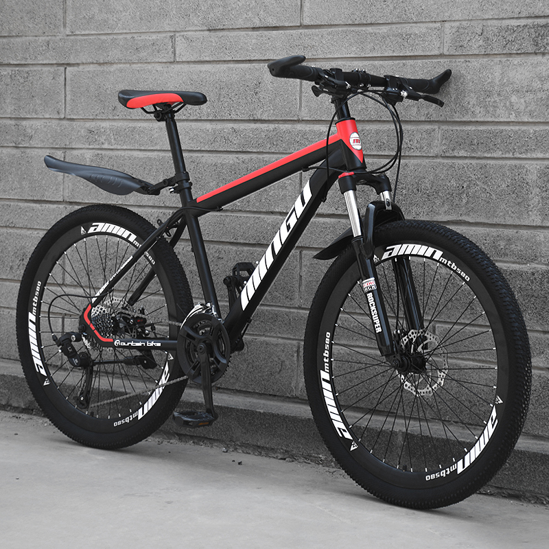 Mountain Bike Speed Off-road Double Disc Brakes Oil Brake Shock Absorber Road Racing Light Student Adult Sports Car