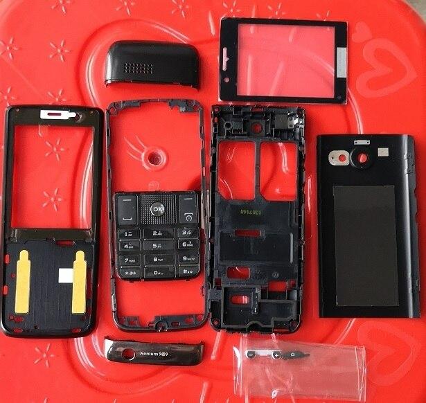 Phixftop Originale Tutte Le Abitazioni per Philips X623 Mobile Anteriore + Centro Custodia Copertura di Batteria + + Tastiere per Xenium CTX623 telefono